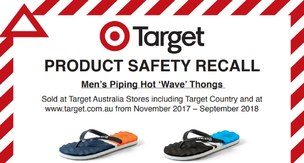 Target has issued a product safety recall for popular thongs