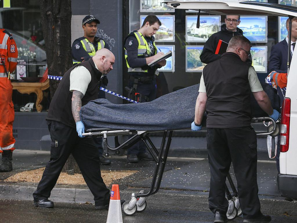 A man died at the Antique Bar in Glen Huntly Rd. Elsternwick after being detained by police early this morning. Picture: Ian Currie