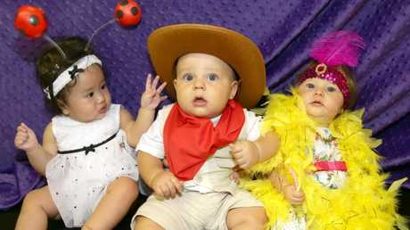Dressing your baby up in a cute costumes is the right of every parent, but just be prepared to wipe vomit off those feathers. Picture: Anna Rogers