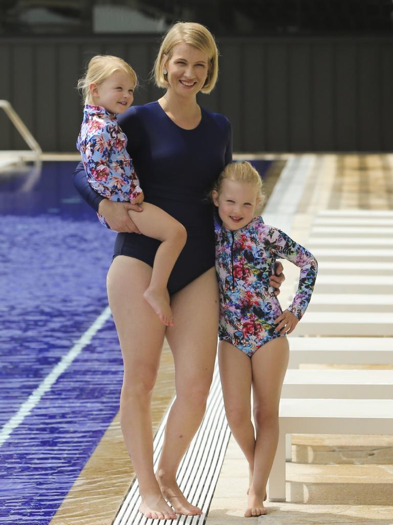 Alyshia Morris and her children Rosemary, 2 and Madeleine, 5.