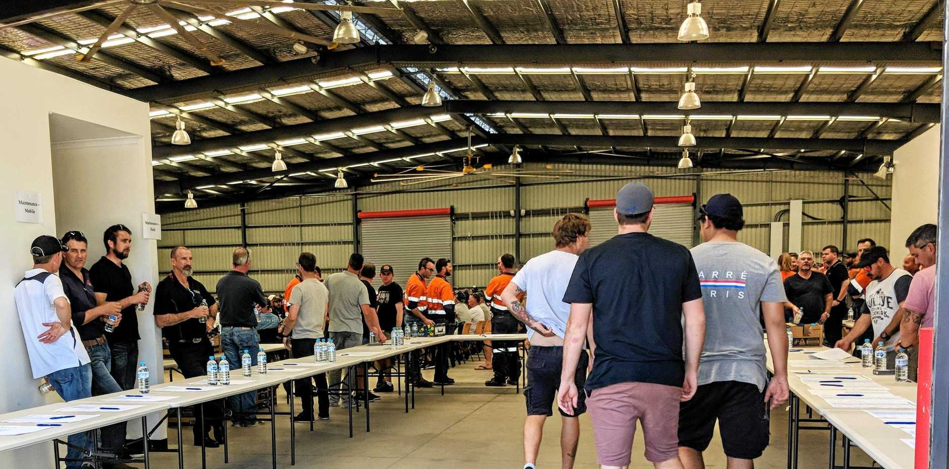 The Daily Mercury was refused entry to one of the meetings held by Glencore early this week. Hail Creek workers were called to Mackay showgrounds, where they heard about 430 jobs will be cut at the mine.
