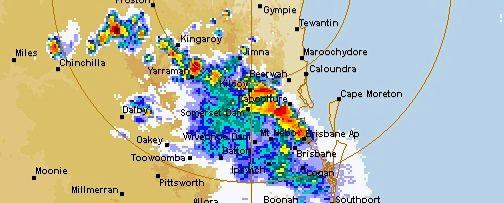 Super cell thunder storms would reach the Gympie and Sunshine Coast regions within minutes.