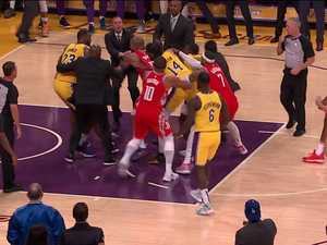 'Oh my god': Fists fly in NBA brawl