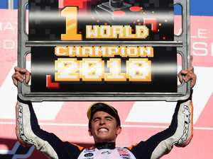 Marquez claims fifth MotoGP world title