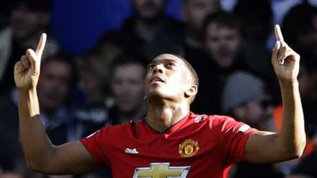 Manchester United forward Anthony Martial scored a double, but his team could only draw with Chelsea