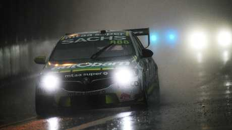 Craig Lowndes and other drivers battled incredible conditions. Picture: Getty