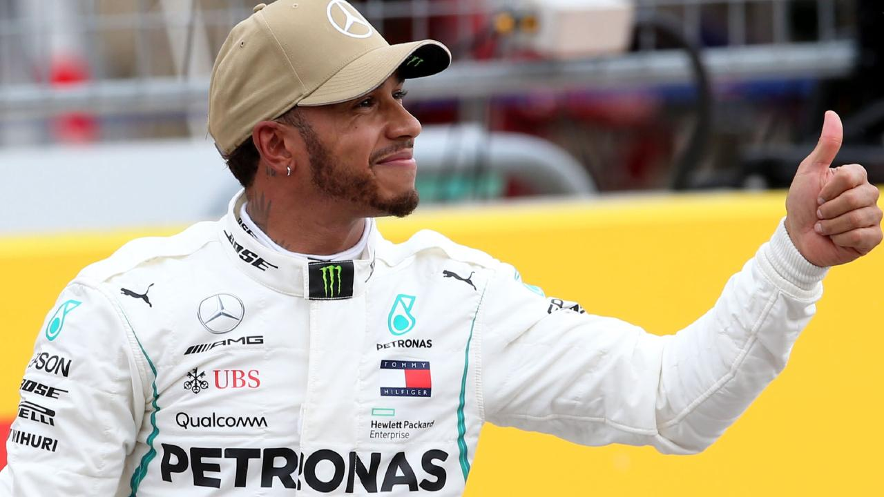 Lewis Hamilton left it late to take pole in Austin. Picture: Getty.