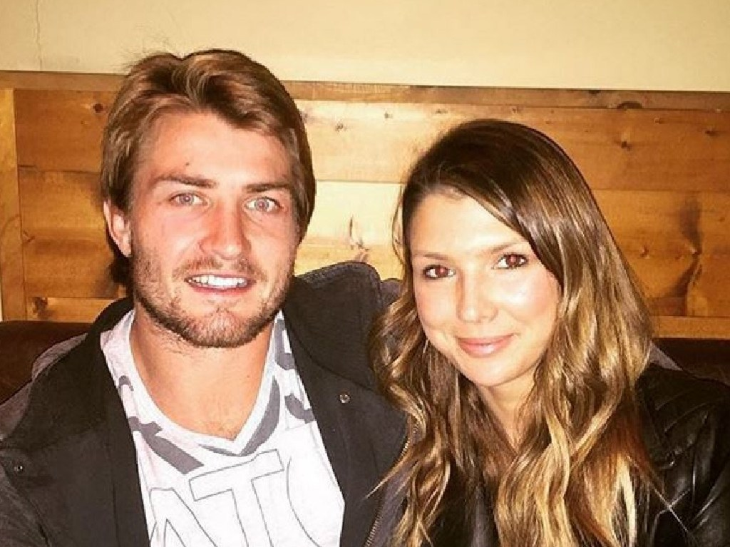 Instagram picture of NRL player Kieran Foran with his former partner Rebecca Pope.
