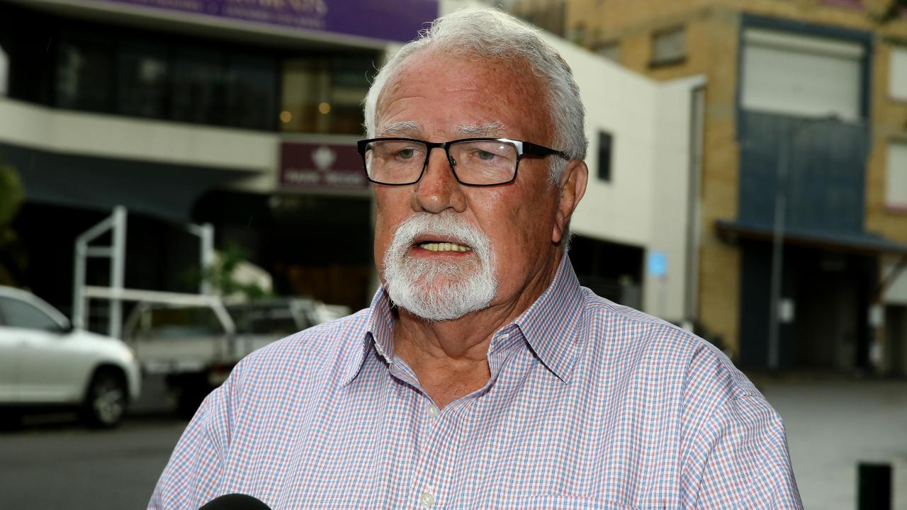 Adam Magill's lawyer Chris Hannay described the arrest as a 'disgusting show of justice'. Picture: AAP/David Clark