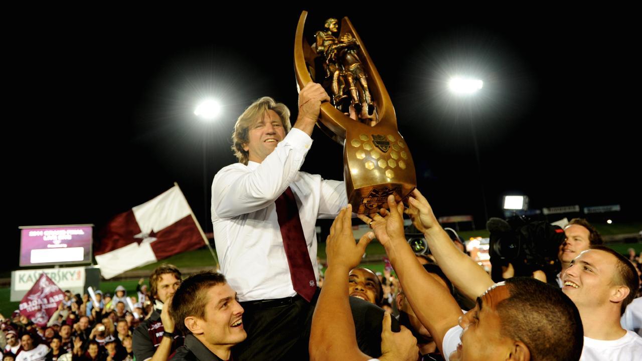 Coach Des Hasler.