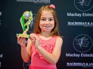 Claire Youman, 7, was the third placegetter in the 7