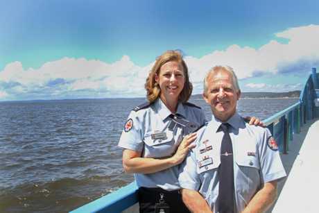 Royal Visit - Paramedics Graeme Cooper and Danielle Kellan on their way to meet the royals.
