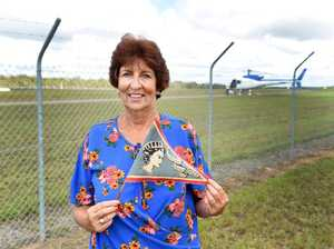 Royal Visit - Kathleen Steele of Urangan waved this