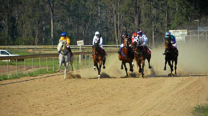 Fast out of the gates in the Wondai cup race.
