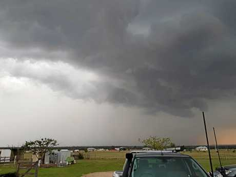Cindy Green posted this on Facebook showing storm activity moving past Taroom towards the northeast late Sunday afternoon.