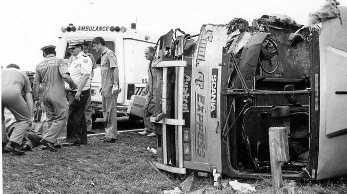 SHOCKING MEMORY: The Cowper bus crash was every rescuer's nightmare, says Bryan Robins.
