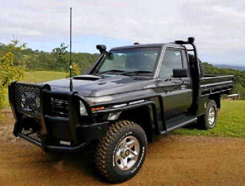 STILL ON THE RUN: A 2006 grey Toyota Landcruiser similar to the one pictured was stolen from an address in Ironpot Monday morning.