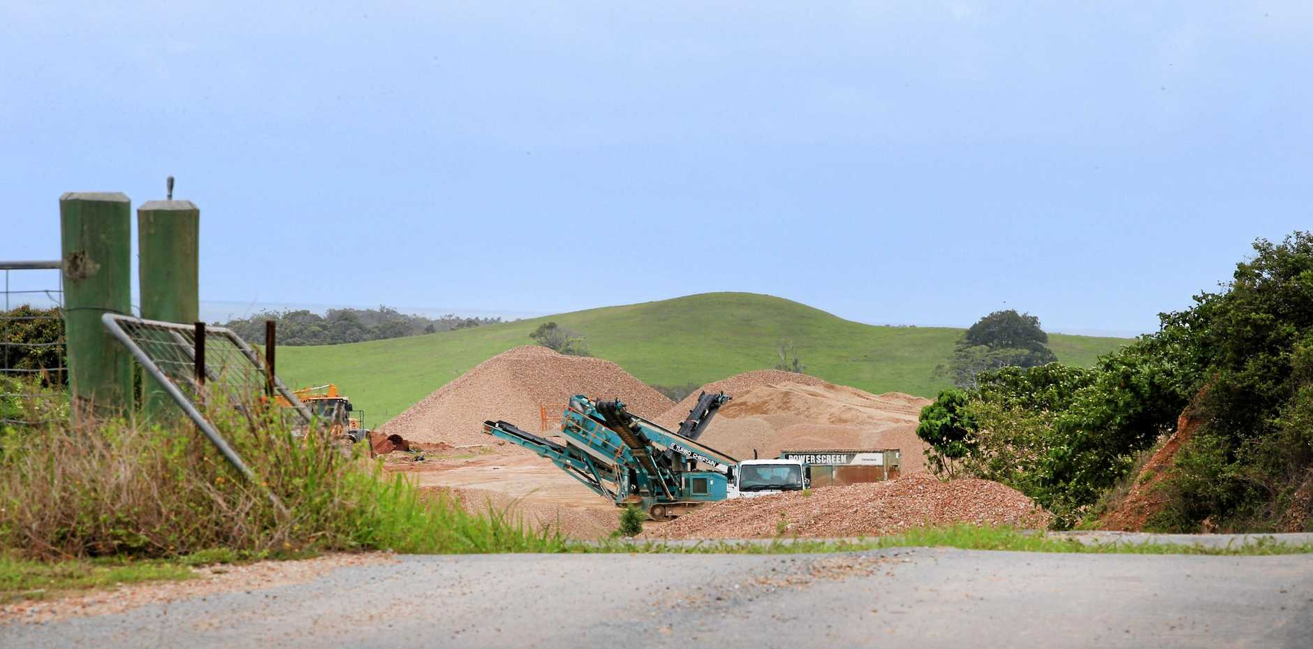 TRAFFIC FEARS: A proposal to increase traffic movement to and from the Dunloe Sand Quarry in Pottsville is being assessed by the Department of Planning and Environment.
