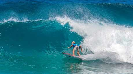 SOLID SURF: Former WSL world tour competitor Ethan Ewing carried host club Point Lookout Boardriders to victory in the Sunday tag teams.