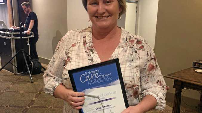 ESTEEM: Leigh Harney, manager at St Vincent's Care Services Gympie, has won manager of the year.