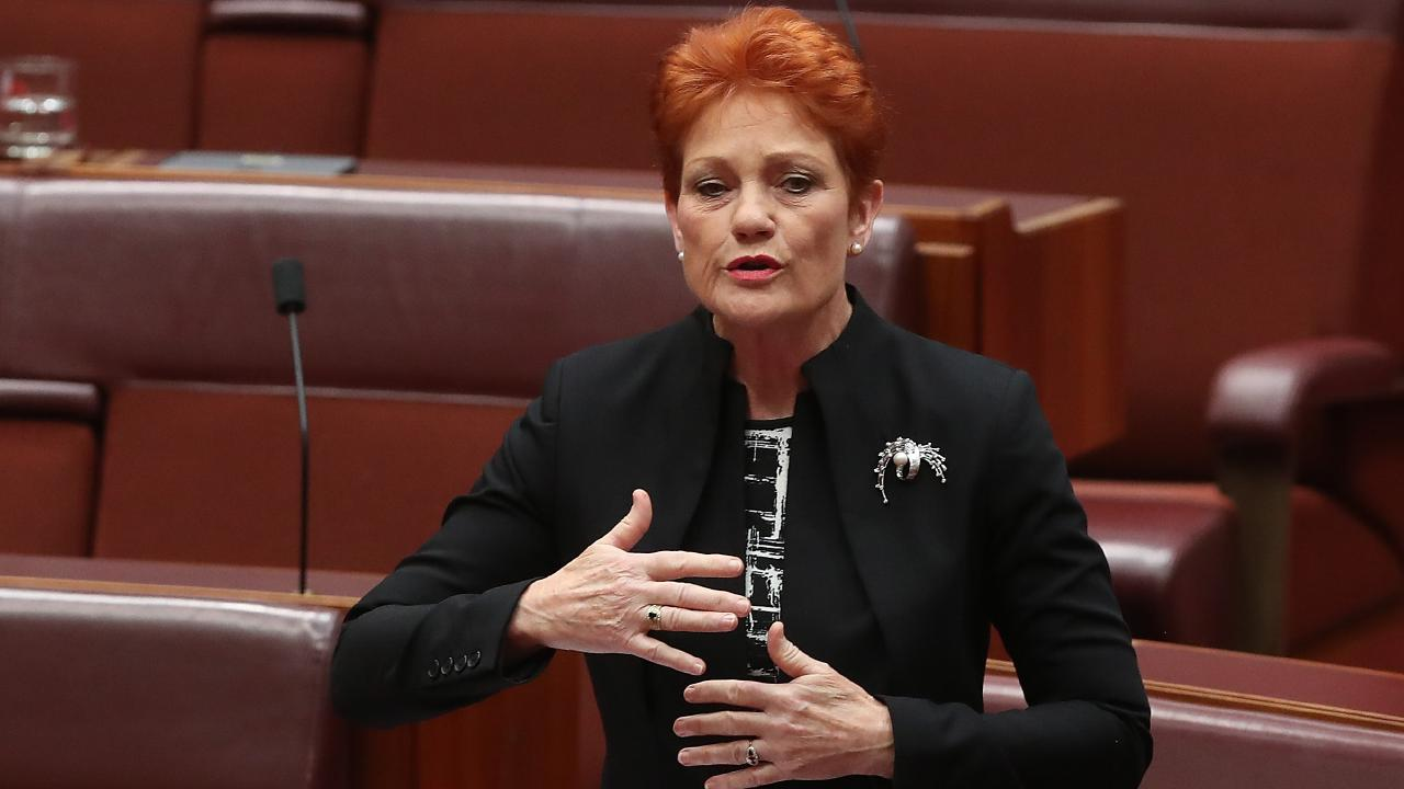 Pauline Hanson's motion was way off. Picture: Kym Smith