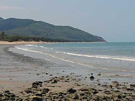 Police are investigating the crime scene at Wangetti Beach. Picture: Anna Rogers