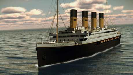 Titanic II is shown cruising at sea in this mock-up photo by Blue Star Line. Picture: Supplied