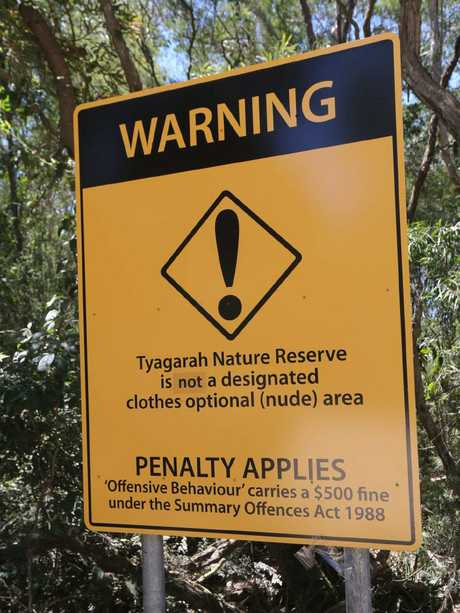 Maxine (last Name with held) was fined for swimming nude at Tyagarah Lakes. She thinks the police are going too far with zero tolerance nudity laws. Picture Mike Batterham