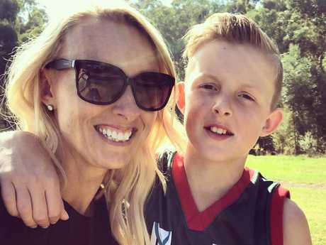 Jackson with his mum Kelly.