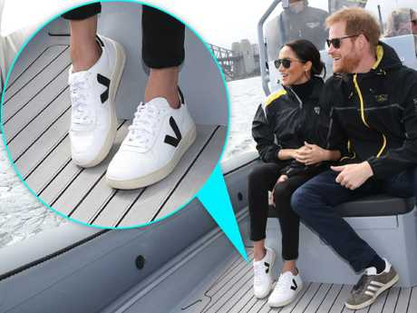 Meghan Markle stepped out on Sunday in a fresh pair of sneakers for a sailing event for the Invictus Games. Picture: Chris Jackson/Getty Images for the Invictus Games Foundation