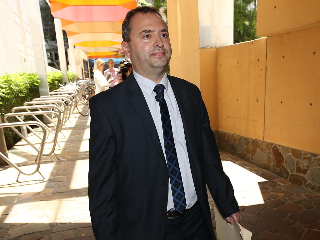 George Sokolov, Clive Palmer's brother in law, leaves Federal Court on Monday. Picture: AAP Image/Richard Waugh
