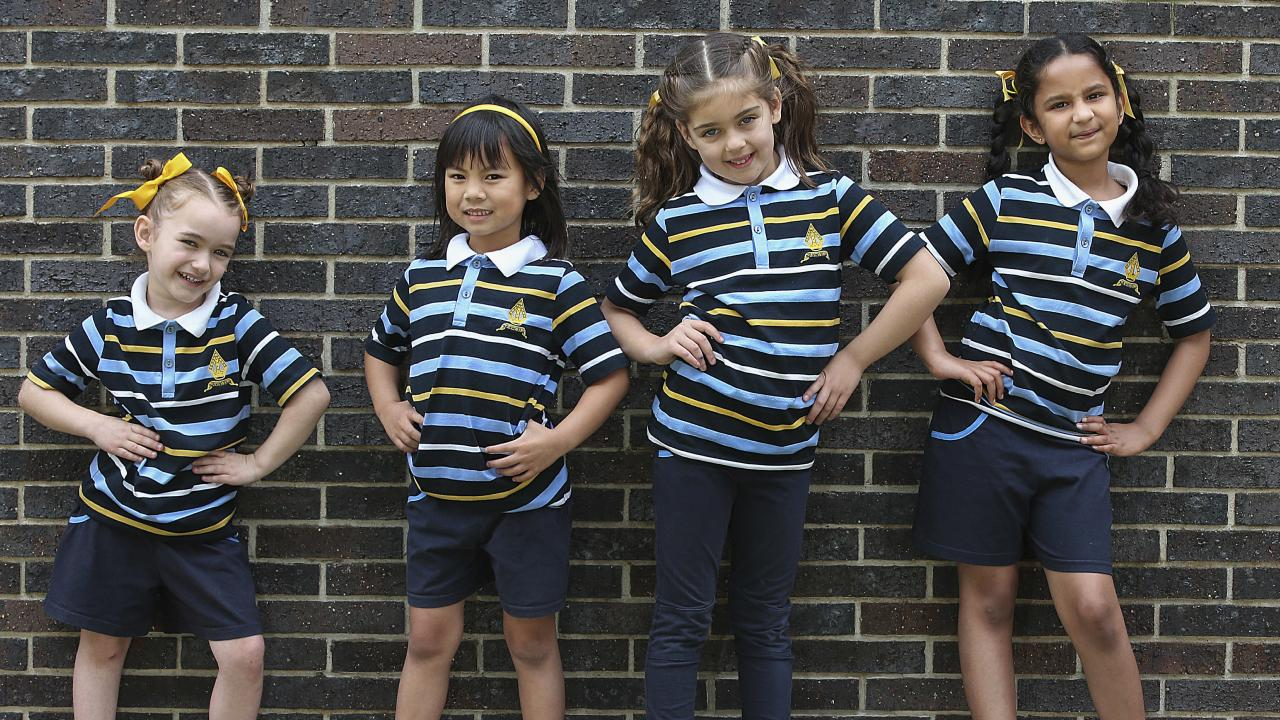 Girls from year two and onwards will be free to choose from a selection of pants and shorts, skirts, dresses, jumpers, vests, and shirts. Picture: Ian Currie
