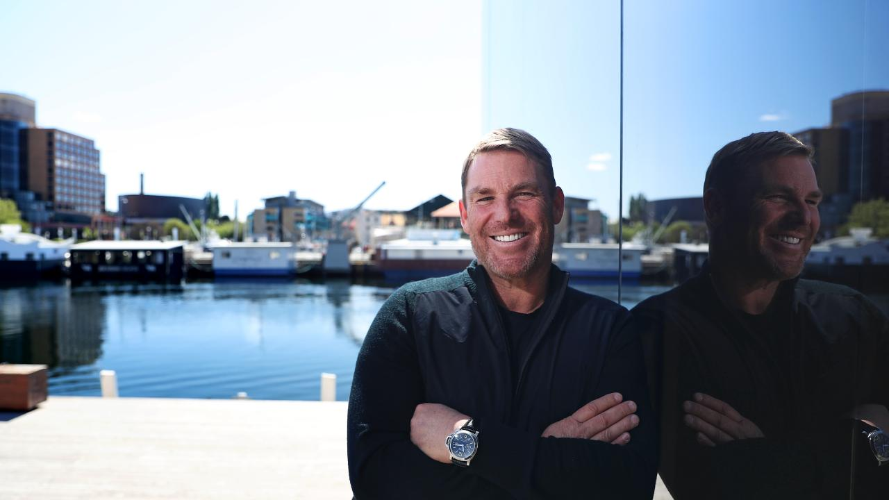 Shane Warne is in Hobart to promote his new book. Picture: LUKE BOWDEN