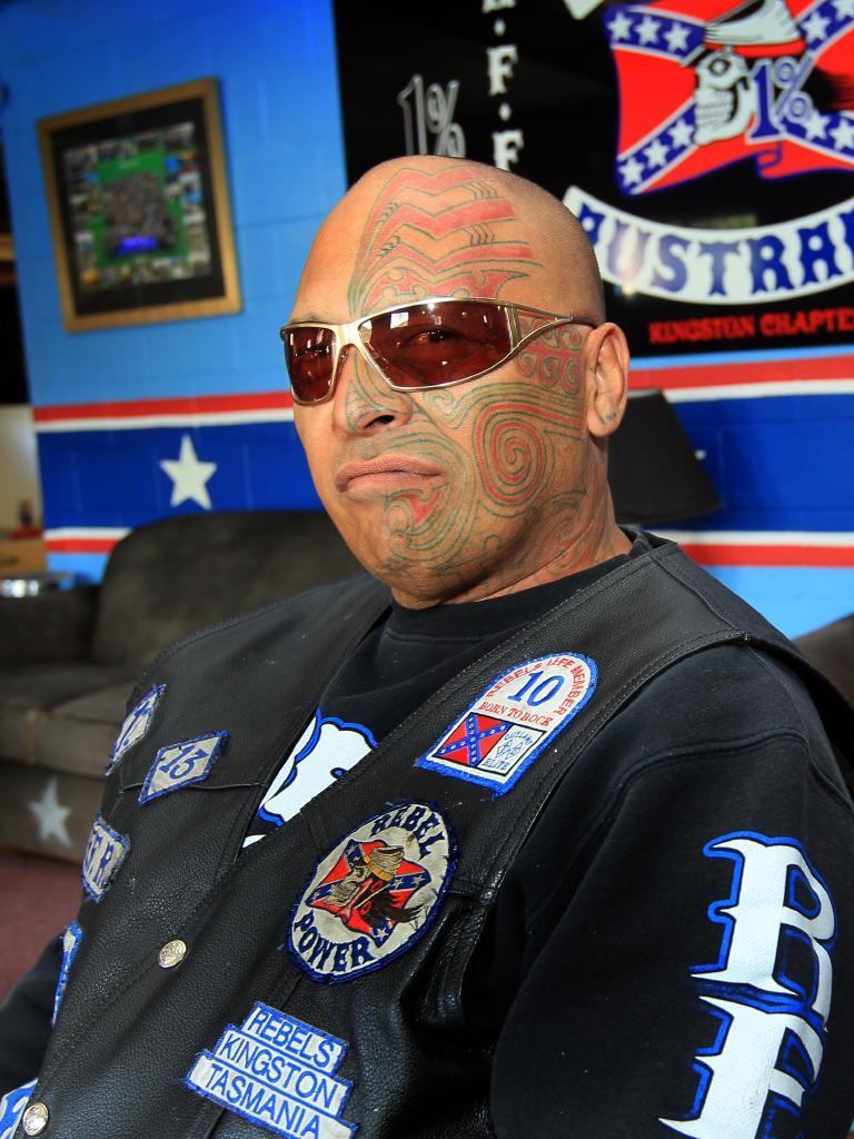 "Rebels bikie Aaron ""AJ"" Graham is one of a number of bikies who have been deported"