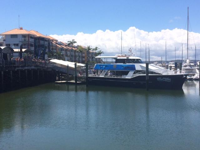 Meghan aboard the Tasman Venture