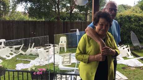 Viv and Raul Ruffini's 60th wedding anniversary celebrations turned to chaos after they were hit by Sunday's storm.