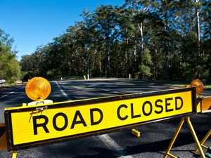 Coast road closed after landslip