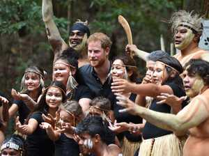 Fraser Island Royal Visit - Harry poses with the