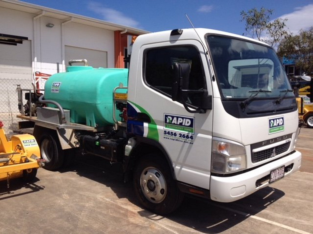A water truck similar to one depicted here was stolen in Coominya recently.