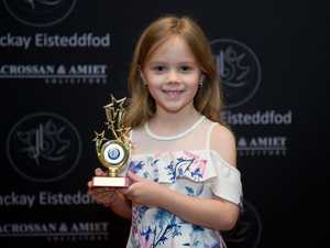 Second placegetter in the five years and under girls