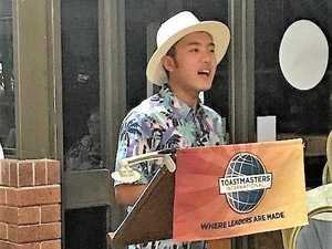 International student inspired by toastmasters