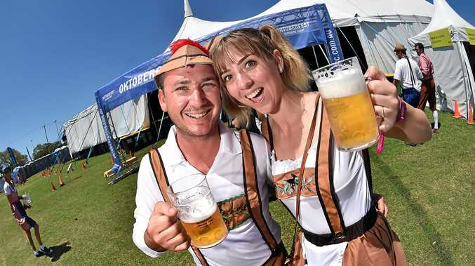 Mark and Jessica Galea were among the 3000 people who attended the inaugural Sunshine Coast Oktoberfest.
