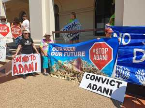 Adani appeals finding, protesters rally outside courthouse