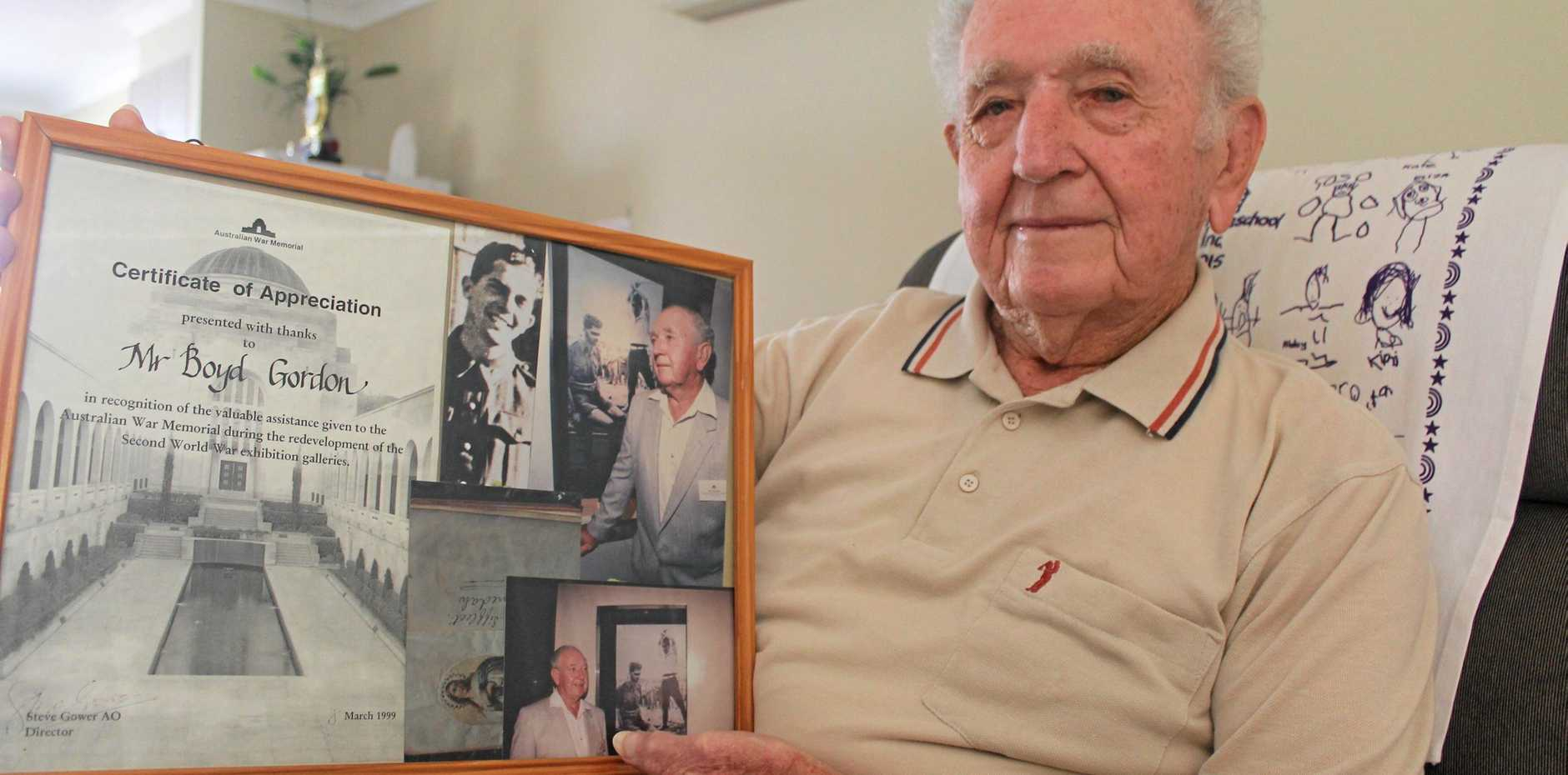 WE WILL REMEMBER: Ray 'Boyd' Gordon, of Ballina, will today be remembering his brother, Leonard Siffleet, who was executed by the Japanese during World War II. The photo of Sgt Siffleet's impending doom is the only known photo of an Australian to be executed by beheading during the war.