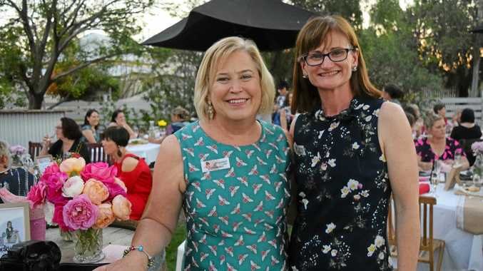 BRILLIANT IDEA: Lynne Butters and Justine Boshammer invited women to frock up with them last Friday afternoon at Urban Paddock.