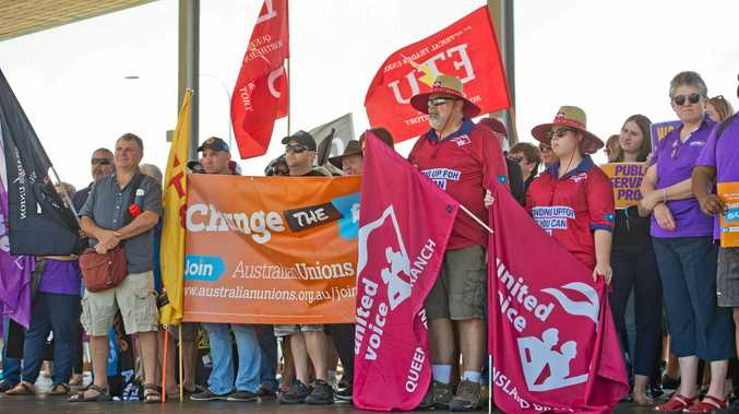 Union members rally for fairer workplaces