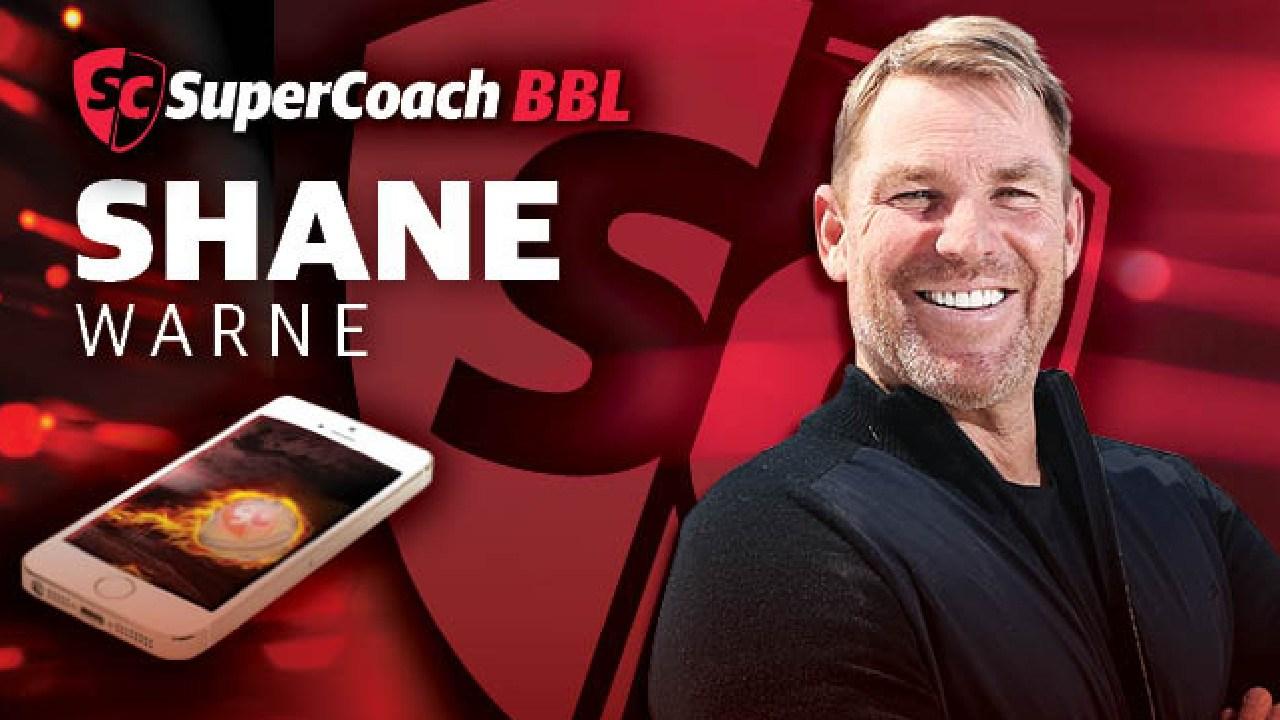 SuperCoach BBL ambassador Shane Warne.