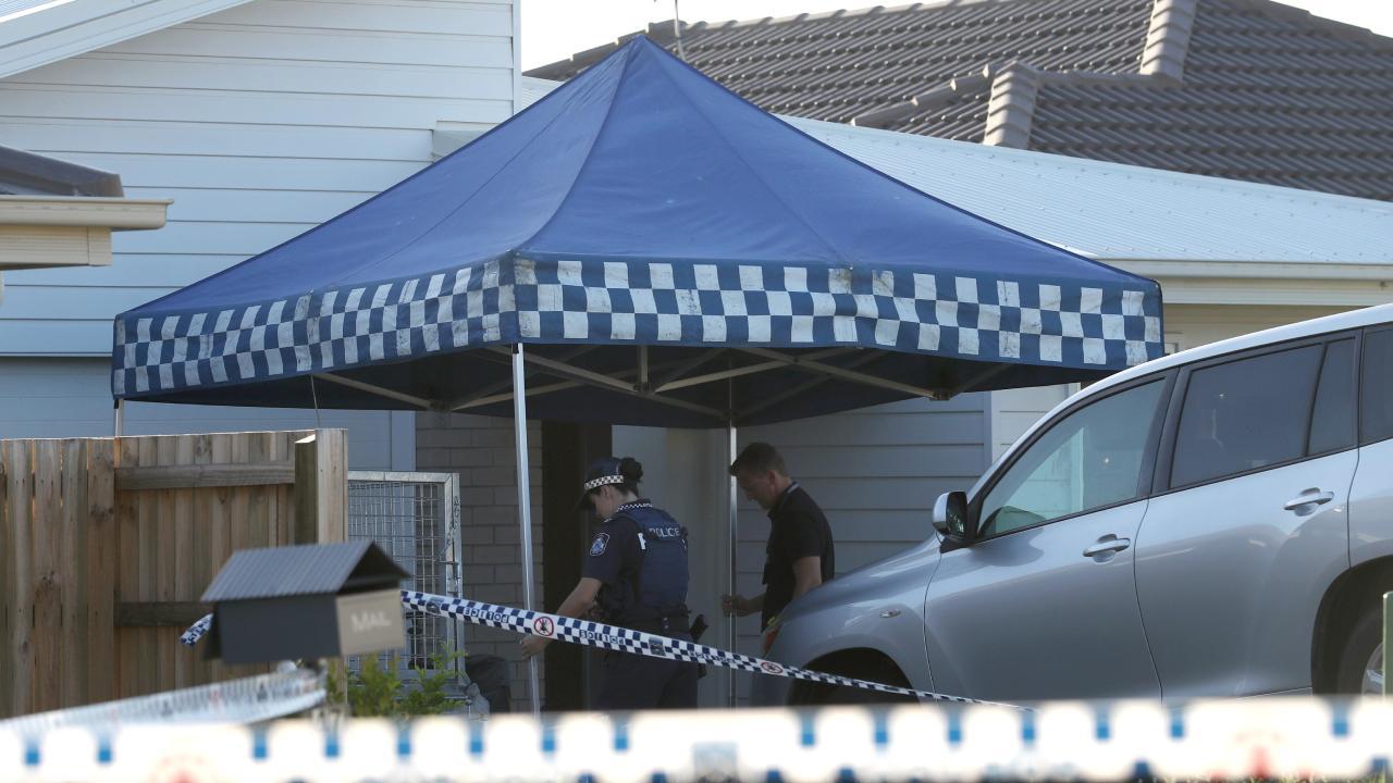 The crime scene outside the Pimpama home.
