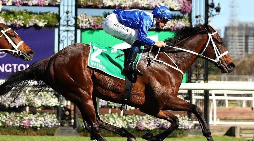 Winx is part of an eight-horse field for Saturday's Cox Plate.