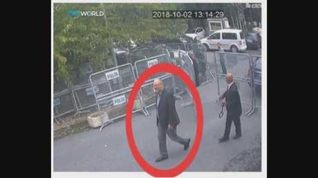 This CCTV image purportedly showing Jamal Khashoggi entering the Saudi consulate in Istanbul on October 2. Picture: CCTV/TRT World via AP